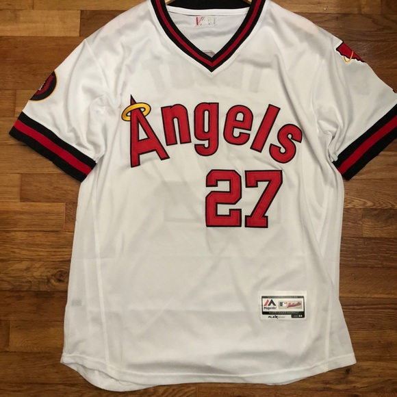 purchase cheap 7d27b 78958 Mike Trout Throwback LA Angels Jersey Large NWT